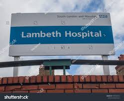 100 Lambeth Hospital LONDON FEBRUARY 2018 Sign Stock Photo Edit Now