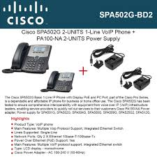 Cisco IP Phone SPA502G 2-UNITS 1-Line With PoE Ports + 2-UNITS ... 4 Port 100mbps Ieee8023af Poe Switchinjector Power Over Ethernet Cisco Spa504g 4line Poe Voip Ip Phone With Stand And Power Supply Obihai Obi110 Voice Service Bridge Telephone Adapter By Phones Voys Full Review Yealink T42g Netxl Amazoncom Obihai Obi1022 Supply Up To 10 Cp8845 Ip 8845 Voip Sip 2 Phones Sipt21pe2 Line Iopower Wifi Sip Systems Modesto Ca Circuit Saviors