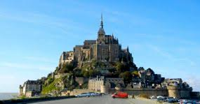cars parking at mont st michel normandy