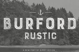 LAST DAY Burford Rustic Family Pack With 38 Fonts