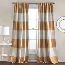 Striped Sheer Curtain Panels by Amazon Com Lush Decor Montego Stripe Window Curtain Panel Set 84