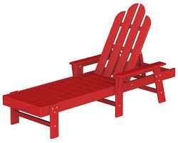 Red Adirondack Chairs Polywood by Long Island Adirondack Chaise Lounge