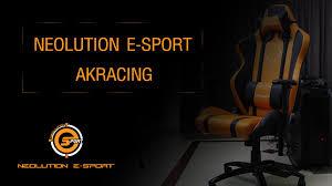 Akracing Gaming Chair Blackorange by ร ว ว Neolution Akracing Premium Gaming Chair Youtube