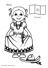 Free Printable Coloring Page Kids From Around The World 014 Cartoons