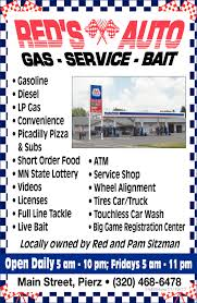 Gas - Service - Bait, RED'S AUTO, Pierz, MN Reds Wrecker Service Used Cars Lgmont Co Trucks Auto And Truck Reds Autos Inventory North Augusta Sc The Ev Protype Is Designed To Help You Relax In A Traffic Jam Big Discount Towing 2468 Dr Martin Luther King Jr Auto Truck 1451 Vista View Dr Lgmont 80504 Buy Sell 12003 Gm 81l Engine Oil Cooler Hoses 20100 16595 197879 Dodge Lil Red Express Fan Favorite Hemmings Of Jaffrey Llc Home Facebook Bed Liners Sale Ironwood Mi