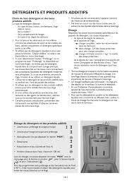détergents et produits additifs whirlpool awe 8785 gg manuel d