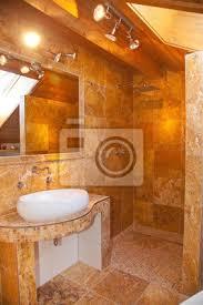 fototapete naturstein badezimmer travertin gold
