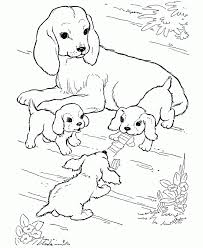 Perfect Dog Coloring Page 56 On Free Kids With
