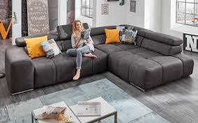 wohnlandschaft filo in anthrazit wohnen große sofas