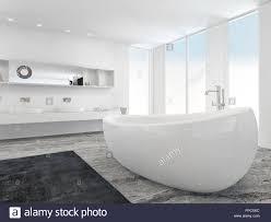 sehr geräumige helle moderne badezimmer interieur mit boden