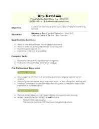 Sample Resume High School Student No Job Experience Graduate New Examples Samples S