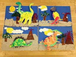 Dinosaur Collage Elementary Art Teacher V Giannetto