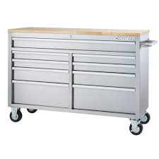 100 Husky Truck Tool Box Review 52 In 9Drawer Mobile Workbench In Stainless SteelHYLS4807