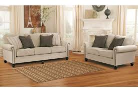 milari linen living room set by ashley home elegance usa