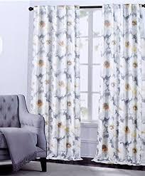amazon com hillcrest window curtains arlene large flowers floral