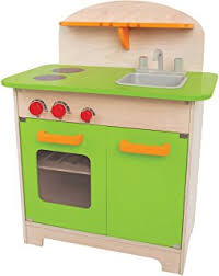amazon com hape cook n serve wooden kitchen play set toys games