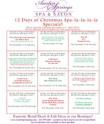 Happy Spa Lidays We Hope You Enjoy Our December Specials