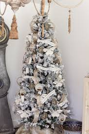 75 Flocked Christmas Tree by Flocked Christmas Trees Vickerman Flocked Utica 75 Green Fir