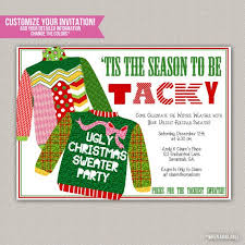 Party Invitations Excellent Ugly Sweater Christmas Design To Create Your Own Free Printable
