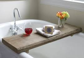 Bath Caddy With Reading Rack Uk by Make This Rustic Bath Caddy From A Single Board Of Reclaimed Wood