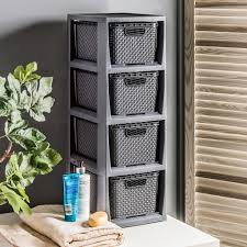 boxenturm behälter aufbewahrungsbox kisten 4 körbe korbregal boxenregal rattan box