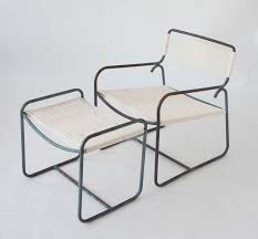 Single Walter Lamb Patio Lounge Chair and Ottoman Set – Den M¸bler