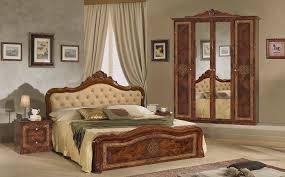 schlafzimmer set in walnuss 7 teilig 160x200 cm mit schrank 6 türig