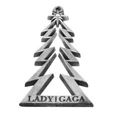 Lady Gaga Collectible Rare 2010 Metal Christmas Tree 3 Ornament In Gift