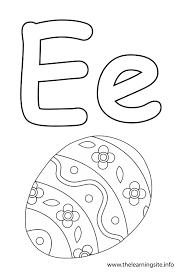 Coloring Page Outline Alphabet Letter E Egg
