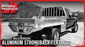 Highway Products | Aluminum Strongback Flatbeds - YouTube