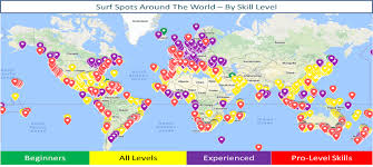 Global Surf Spots By Skill Level