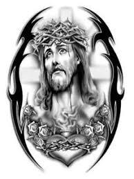 Barbed Jesus N Cross Tattoo Design In 2018