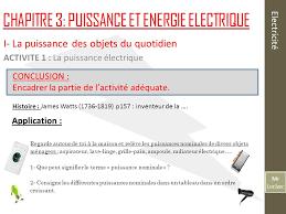 mr leclerc electricité chapitre 3 puissance et energie electrique
