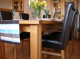 The Stunning Emperor Full Leather Roll Back Oak Dining Chair And Tallinn Butterfly Extending Table