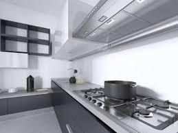 Modern White Kitchen Interior 3d Rendering Stockfoto Und Luxurious Contemporary Kitchen With Gray Matte Furniture In