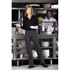 pantalon cuisine femme pantalon de cuisine dame rayures noir et blanc