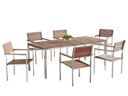 Modern Outdoor Dining Set For 6 - Teak & Stainless Steel - VIAREGGIO Modern Outdoor Ding Chair Black Fabric Stainless Steel Frame Grosseto Ebay Dectable Setting Patio Fniture Metris Modway Chairs On Sale Eei2683brn Casper Armchair Dualtone Synthetic Rattan Weave Only Only 19830 At 7 Pc Mid Century Teak Set Lara Table And Selecta Sophia Sampulut Eei1739whilgrset Maine Of 2 29230 Contemporary Safavieh Wrangell Stacking Alinum In Hot Item Coffee Stackable Antique Garden Metal Restaurant Rialto