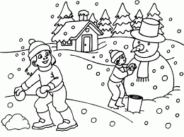 Coloring PagesColoring Pages Winter Endearing Page For Free Online