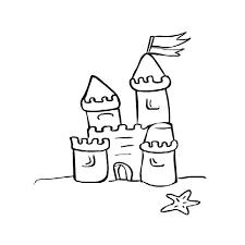 600x600 Sand Castle Coloring Page Freedmme