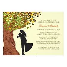 Custom Loving Couple Initials Oak Tree Fall Bridal Shower Personalized Announcement Created By InvitationBlvd This Invitation Design Is Available On Many