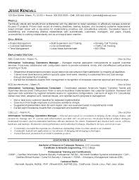 Operation Manager Resume Resume Examples It Manager Operations