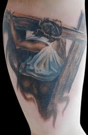 Jesus Carrying Cross Shoulder Design Tattoo Designs Women