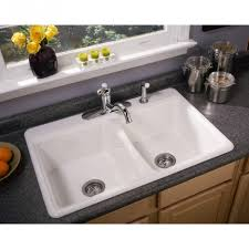 Overmount Double Kitchen Sink by Beauteous Square Shape Overmount Kitchen Sink Featuring Single