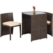 BestChoiceProducts: Best Choice Products 3-Piece Wicker Bistro Set W ... Tms 3piece Bistro Ding Set Walmartcom Breakfast 3 Piece Wilko Ashley Fniture Bringer Drop Leaf Table 2 Upholstered Amazoncom Linon Tavern Collection 36 With Two Chairs All Light Oak Meg Meg3pctableset Lifestyle Mack Milo Nicklas Kids Windsor Writing And Chair Metropolitan Multiple Finishes Arden Marble Look Top Coffeeend Coffee East West Anav3blkw Kitchen Nook Sofa Recliner Fold Down Cup Holders Steve Silver Antoinette Pedestal Pub Bar Stool