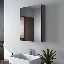 emke spiegelschränke 50x65cm bad spiegelschrank badschrank mit doppelseitiger spiegel grau