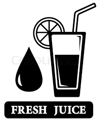 Black isolated fresh juice icon with glass silhouette Stock Vector