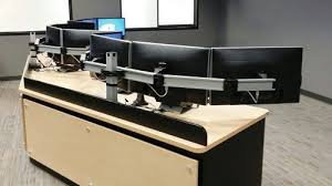 Dual Monitor Arms Desk Mount by Flexible Mounting Solutions Innovative