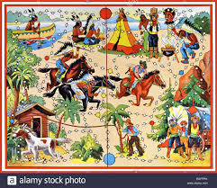 Games Board Game Cowboy And Red Indian Germany 1960 1960s