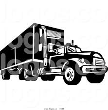 Royalty Free Vector Logo Of A Black And White Big Rig By ... Logo Clipart Truck Pencil And In Color Logo Truck Design Fast Delivery Royalty Free Vector Image Food Templates By Tfamz Graphicriver Design Contests Creative For Woodys The Ultimate Guide To Logistics Trucking Ideas Logojoy Jls Trucking Logos Wachung5 On Deviantart Company Logos Outstanding Gonzalez Delivery Service Cargo Transportation And Freight Masculine Professional Stewart Transport Inc