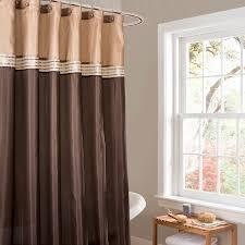 Small Bathroom Window Curtains Amazon by Amazon Com Lush Decor Terra Shower Curtain 72 By 72 Inch Brown